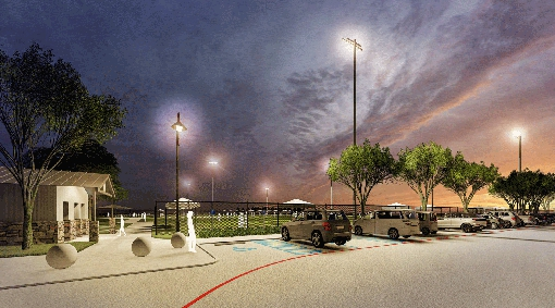 Rendering of soccer field parking lot