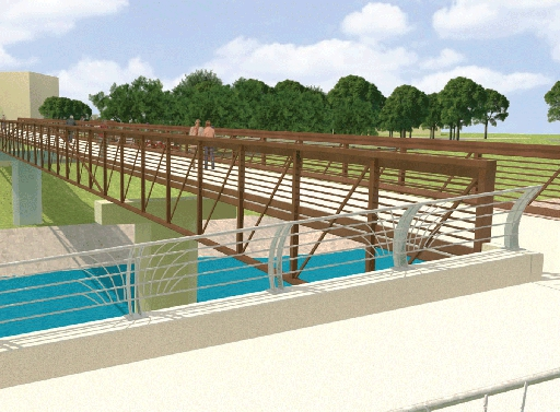 Full size rendering of the bridge from sidewalk