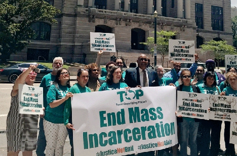 Commissioner Ellis with the Texas Organizing Project calling to end mass incarceration