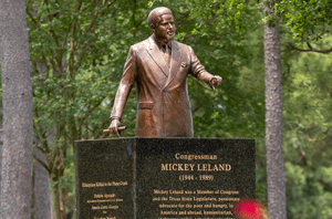 Mickey Leland Statue in Hermann Park